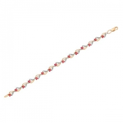 Золотой браслет с рубином и бриллиантами