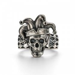 Кольцо череп Джокер