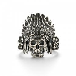 Кольцо череп Вождь