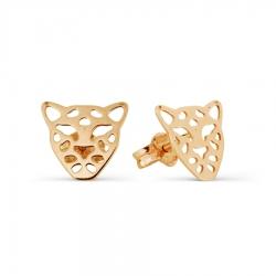 Золотые пусеты Леопард
