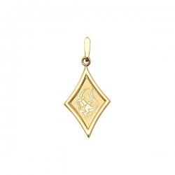 Подвеска знак зодиака Козерог из золота 585 пробы