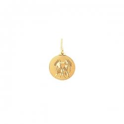 Подвеска знак зодиака Близнецы из золота 585 пробы