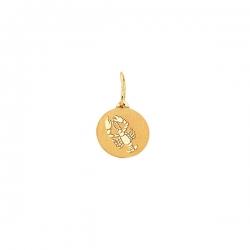 Подвеска знак зодиака Рак из золота 585 пробы