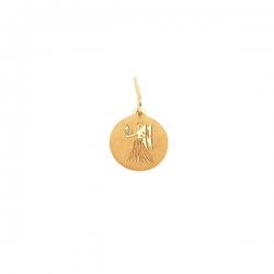 Подвеска знак зодиака Дева из золота 585 пробы