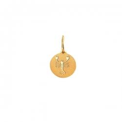 Подвеска знак зодиака Скорпион из золота 585 пробы
