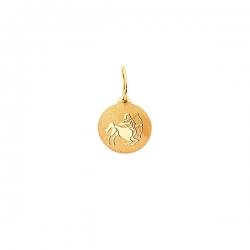 Подвеска знак зодиака Стрелец из золота 585 пробы