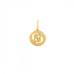 Подвеска знак зодиака Рыбы из золота 585 пробы