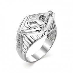 Кольцо печатка Спартак для мужчин