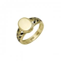 Кольцо из жёлтого золота 585 пробы с эмалью