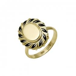 Кольцо из желтого золота (эмаль)