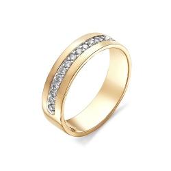 Обручальное кольцо с дорожкой бриллиантов