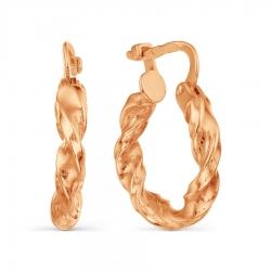 Золотые серьги-конго без камней