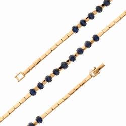 Золотой браслет с сапфирами