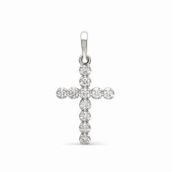 Крестик с бриллиантами по всей поверхности