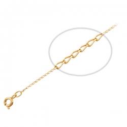 Браслет панцирного плетения из красного золота