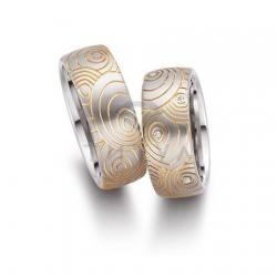 Золотые парные обручальные кольца (ширина 8 мм.) (цена за пару)