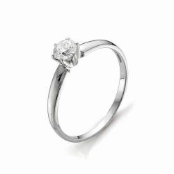 Золотое помолвочное кольцо с крупным бриллиантом