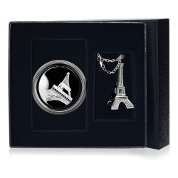 Серебряный набор «Эйфелева башня»