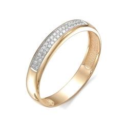Обручальное кольцо с двумя дорожками бриллиантов