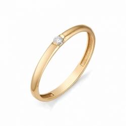 Обручальное кольцо с одним бриллиантом