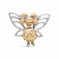 Золотая подвеска в виде волшебной феи