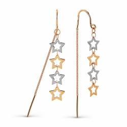 Золотые серьги Звезды