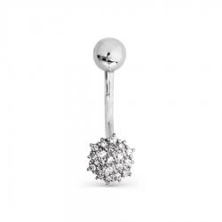 Пирсинг из белого золота с бриллиантами