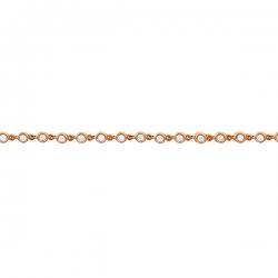 Браслет из розового золота 585 пробы с бриллиантами