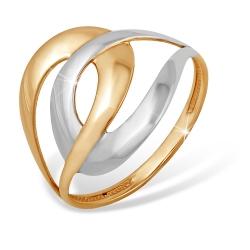 "Кольцо ""Дуэт"" из красного золота 585 без вставок"