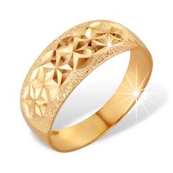 """Кольцо """"Чалма"""" из красного золота 585 без вставок"""