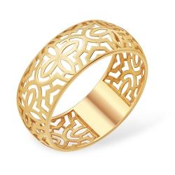 """Кольцо """"Ажурное"""" из красного золота 585 без вставок"""
