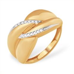 """Кольцо """"Дорожка"""" из красного золота 585 с бриллиантами"""