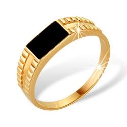 """Кольцо """"Печатка"""" из красного золота 585 без вставок"""