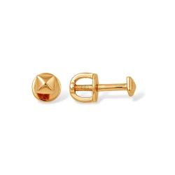Серьги из красного золота 585 без вставок