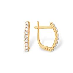 """Серьги """"Дорожки"""" из красного золота 585 с бриллиантами"""