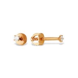 Серьги из красного золота 585 с фианитами