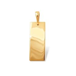 """Подвеска """"Геометрия"""" из красного золота 585 без вставок"""