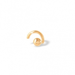 Пирсинг из красного золота 585 без вставок