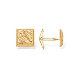 """Запонки """"3D алмазная грань"""" из красного золота 585 без вставок"""