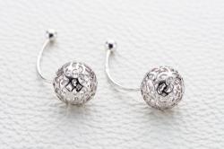 Серьги Sphere из белого золота без камней