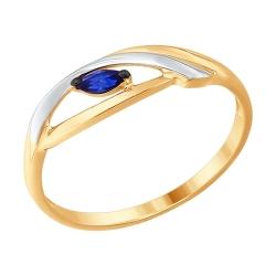 Золотое кольцо с сапфиром SOKOLOV