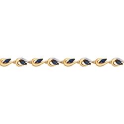 Золотой браслет с сапфиром, бриллиантом SOKOLOV