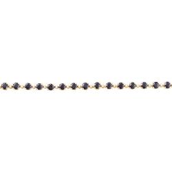 Браслет из золота 585 пробы с бриллиантами и сапфирами