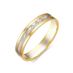 Обручальное кольцо из двухцветного золота