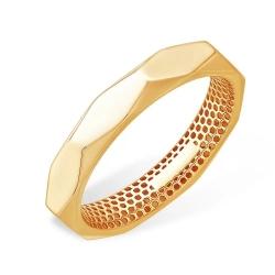 Кольцо из красного золота 585 без вставок