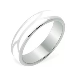 Кольцо из белого золота 585 без вставок