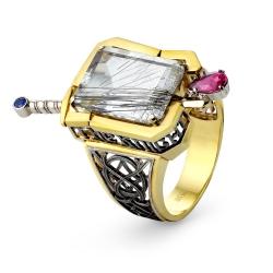 Эксклюзивное кольцо Айвенго из комбинированного золота