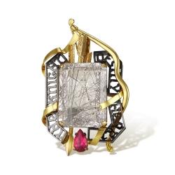 Эксклюзивная подвеска Айвенго из комбинированного золота