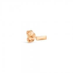 Т100028020 золотая одиночная серьга без камней