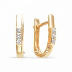 Золотые серьги бриллиантами